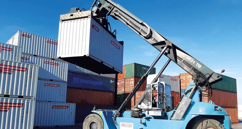 Reachstacker Container-Stapler